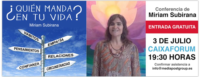 Conferencia Miriam Subirana