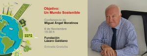 Ideas Imprescindibles conferencia Moratinos un mundo sostenible