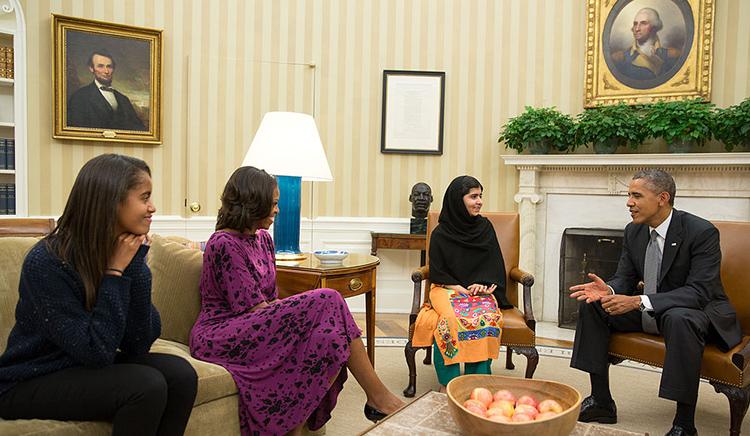 Malala-Yousafzai-Obama